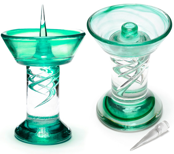Green Royal Glass Debowler