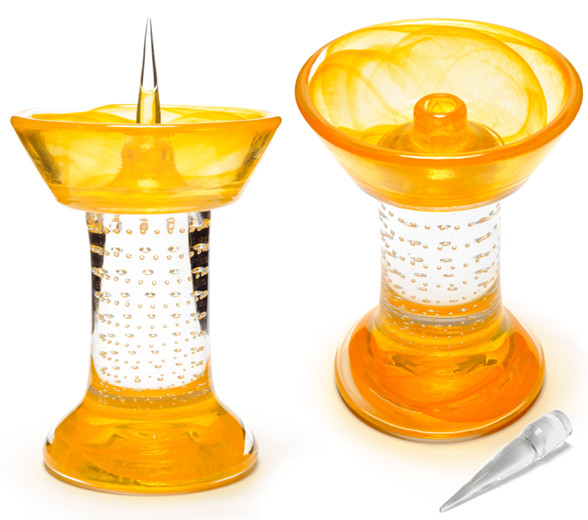 Amber Royal Glass Debowler