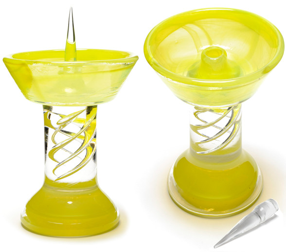 Yellow Royal Glass Debowler