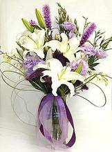 Eligant Purple Pretty Floral Arrangement with vase