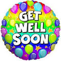 Helium Filled Get Well Balloon
