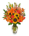 Fresh Floral Arrangement with Vase