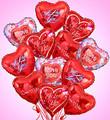 1 Dozen Valentine's Ballon Bouquet