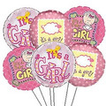1/2 Dozen It's A Girl Balloon Bouquet