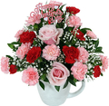 Fresh Rose Mix with Ceramic Cup