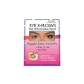 Includes 6 pairs of stencils - 3 large and 3 small  Use with eye shadow to create bigger eyes instantly   Peel and stick  Won't pull or tug at skin when removed  Bends easily to fit around eye  Hypoallergenic  Reusable
