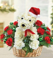 Christmas Floral Puppy 002