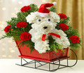 Christmas Floral Puppy 005