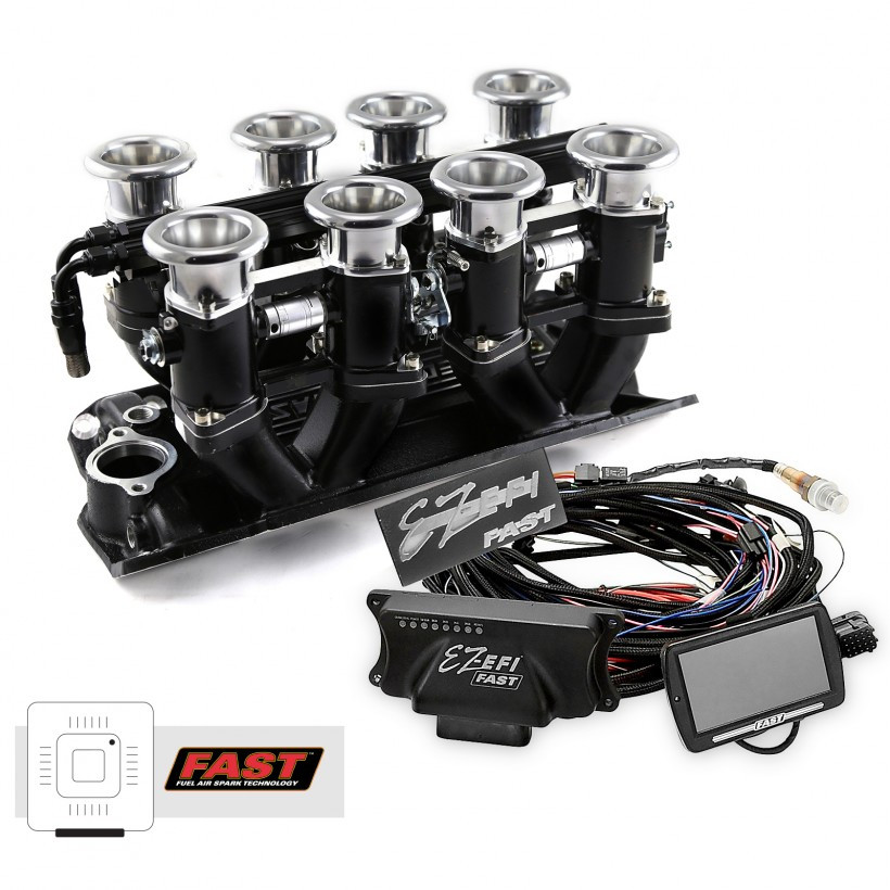 Small Block Chevy Black Downdraft FAST EZ-EFI 2 0 Fuel Injection System