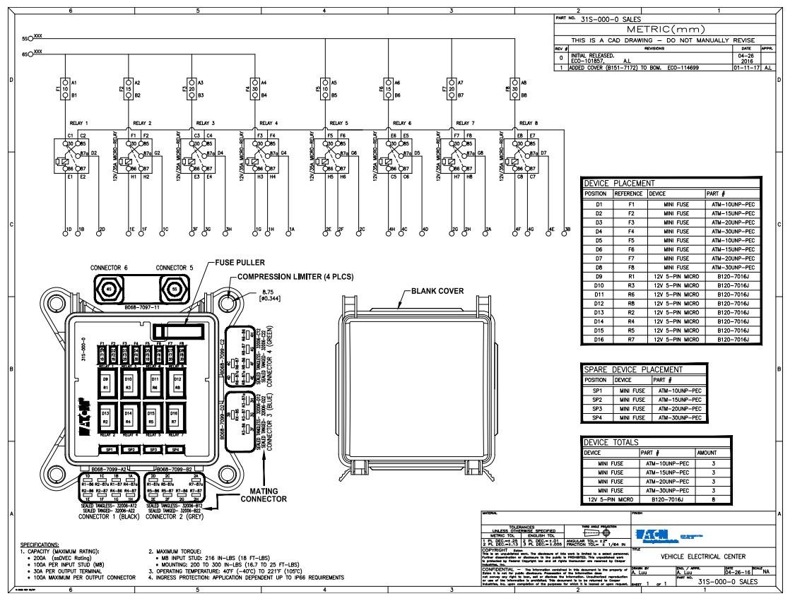 EATON 31S-000-0 Bussmann Series ssVEC Power Distribution