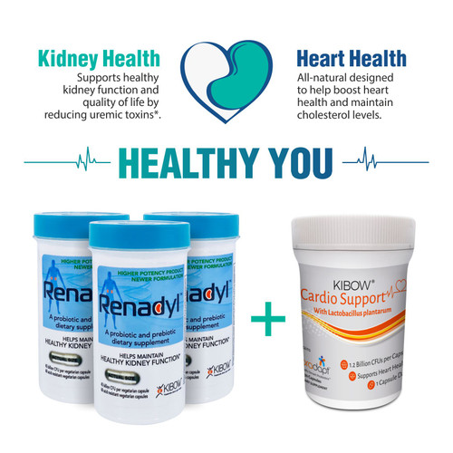 Renadyl™ 90 Days Supply + Kibow Cardio Support 30 Day Supply - Combo Pack