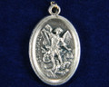 St Michael Oxidized Medal