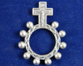 Ox Silver metal rosary ring