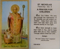 St Nicholas A Prayer For Children Paper Holy Card