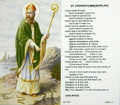 St Patrick's Breastplate Paper Holy Card