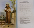 St Francis of Assisi Peace Prayer Paper Holy Card