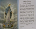 The Memorare of St Bernard Catholic Prayer Card