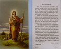 Footprints Laminated Holy Card