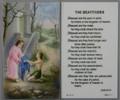 The Beatitudes Laminated Holy Card