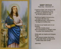 St Cecilia Laminated Holy Card