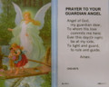 Prayer to Your Guardian Angel Laminated Holy Card