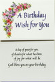 Birthday Wish For You Birthday Card