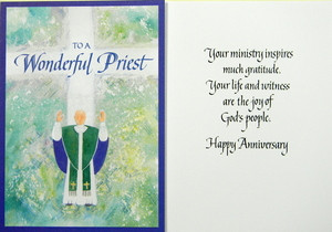To a wonderful priestiest anniversary card our daily bread priest anniversary card price 149 image 1 m4hsunfo