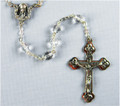 Crystal 7mm Glass Bead Rosary