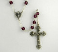 Amethyst 7mm Glass Bead Rosary