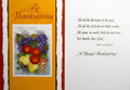 At Thanksgiving Greeting Card