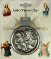St Christopher pewter visor clip