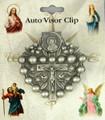 Rosary Pewter Visor Clip