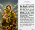 St Joseph Novena Prayer Laminated Holy Card