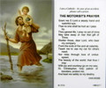 St Christopher Motorist's Prayer Laminated Holy Card