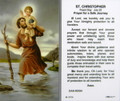 St Christopher Prayer for a Safe Journey Laminated Holy Card