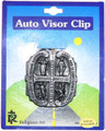 Four Way pewter auto visor clip