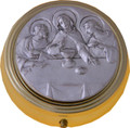 Pyx with Last Supper Pewter Emblem Small