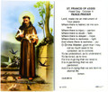 St Francis of Assisi Peace Prayer Laminated Holy Card