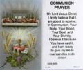 Communion Prayer Laminated Holy Card