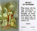 Communion Girl An Act of Offering Laminated Holy Card