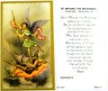 St Michael the Archangel Laminated Holy Card
