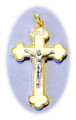 White enamel gold plate crucifix