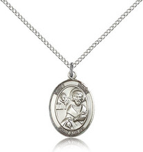 "St Mark the Evangelist patron saint sterling silver medal on a 20"" chain"