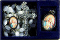Mother of Pearl Rosary & Immaculate Heart of Mary Medal