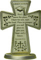 Graduation Pewter Message Cross