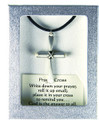 "Prayer Cross on 18"" Black Cord"