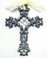 Filigree Baptism Wall Cross 5""