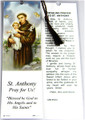 St Anthony Laminated Bookmark with Tassel