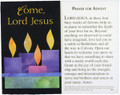 Come Lord Jesus Advent Prayer Card