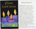 Come Lord Jesus Advent Prayer Card